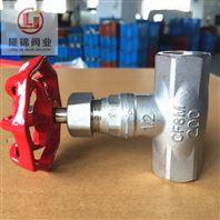 不銹鋼內螺紋截止閥J11W  B型 硬密封/美標