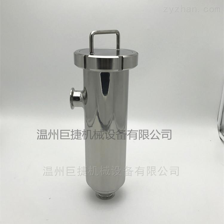 不锈钢管式 双联 快装 角式过滤器巨捷