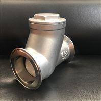 不銹鋼快裝滾球式止回閥 球形污水單向閥