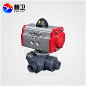 Q614/615S-10K 气动PVC三通球阀