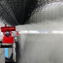 天津码头除尘高塔式射雾器 90米射程效果