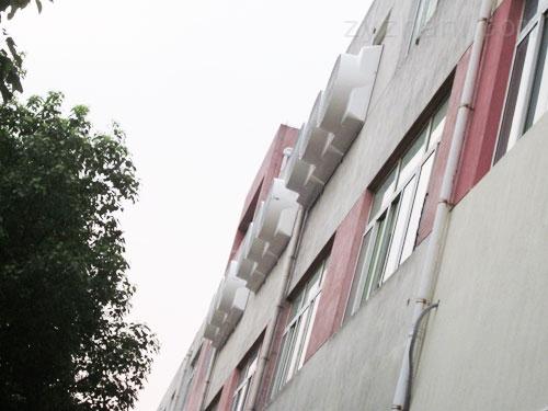 降溫水簾系統多少錢,濕簾墻壁安裝風機通風