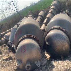 闲置二手30吨四效钛材质降膜蒸发器