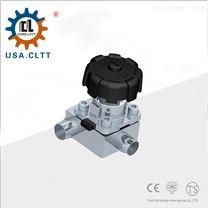 美国进口卫生级T型隔膜阀