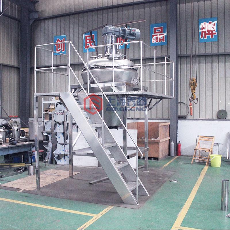 500L真空低溫單錐螺帶混合干燥機中型 *