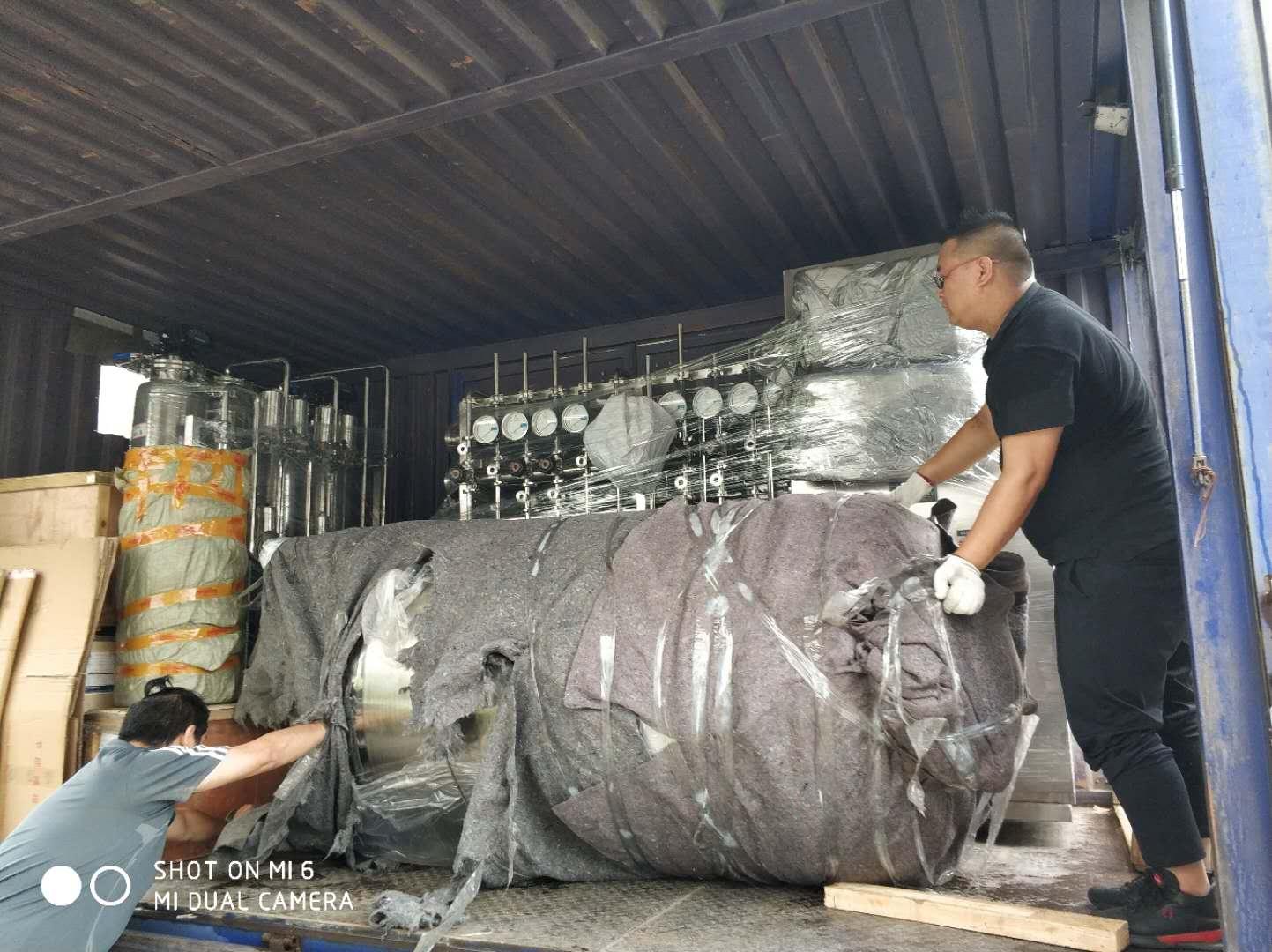 杭州客戶,0.5T/H純化水設備準備發貨!